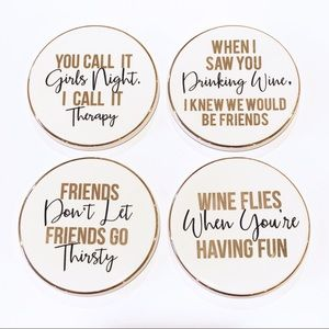 COASTERS GNO Girls Night Out set of four